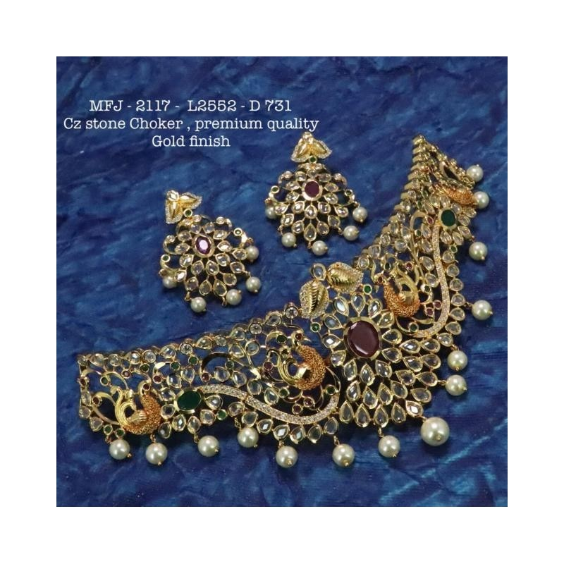 Ruby&Emerald With Perals Lakshmi With Elephant Design Mat Finish Hip Belt Buy Online