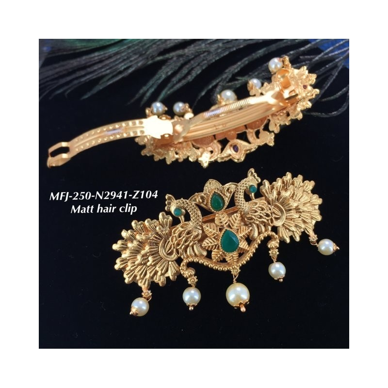 Emerald Stones Leafs Design Gold Plat Finished Necklace Buy Online