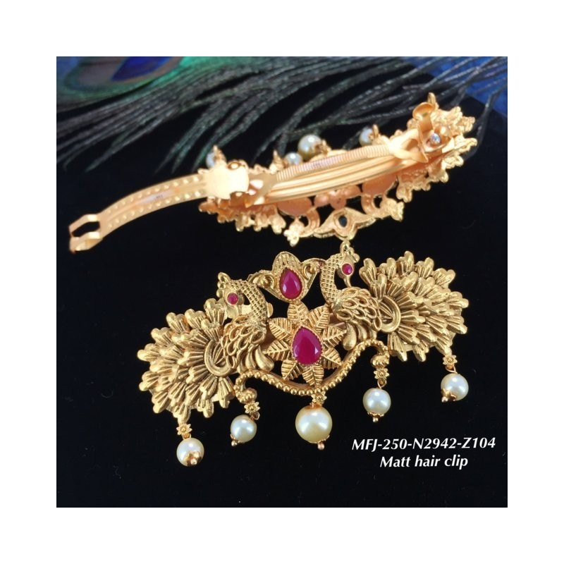Ruby Stones Leafs Design Gold Plat Finished Necklace Buy Online
