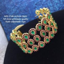 Emerald Stones Thilakam Design Gold Plat Finished Necklace Buy Online