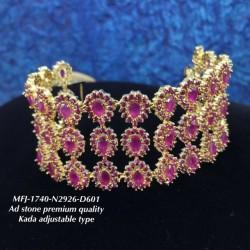 Ruby Stones Thilakam Design Gold Plat Finished Necklace Buy Online