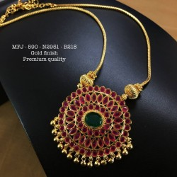 CZ,Ruby&Emerald Stones With Pearls Flower With Mango Design Gold Plat Finished Choker Necklace Buy Online