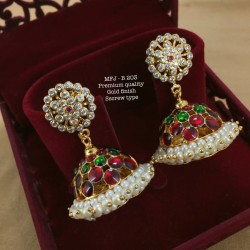 CZ,Ruby&Emerald Stones with Golden Balls Lord Ganesh Design Mat Finish Pendant Set Buy Online