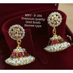 Ruby&Emerald Stones with Golden Balls Lord Ganesh With Peacock Design Mat Finish Pendant Set Buy Online