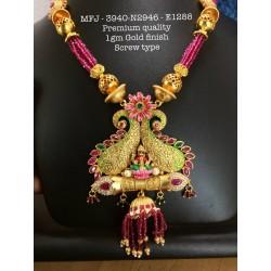 Ruby&Emerald Stones With Perls Lakshmi Design Mat Finish Hip Belt Buy Online