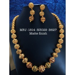 Ruby Stones With Pearls Drops Lakshmi With Mango Design Mat Finish Hip Belt Buy Online