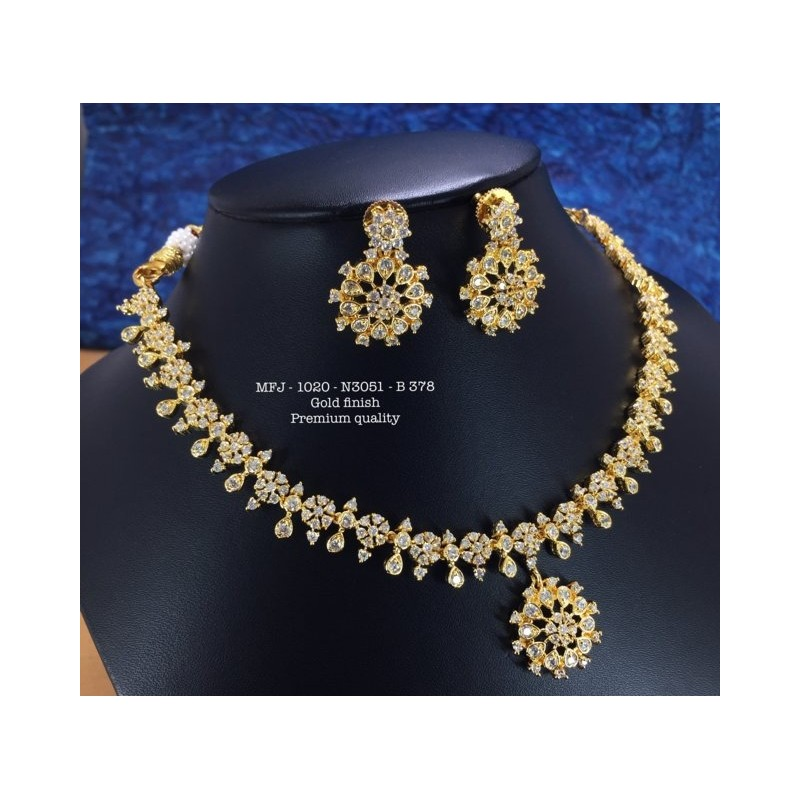 See Blue Stones Peacock With Jumki Design Mat Finish Pendant Set Buy Online