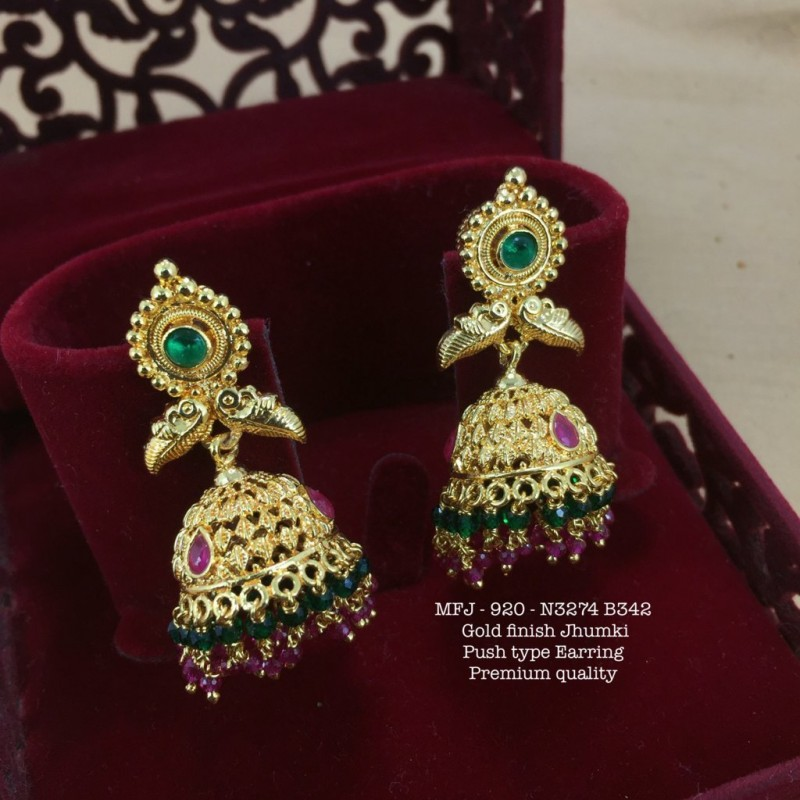 Ruby Stones With Pearls Drops Peacock Design Matte Finish 9 Pec Hair Pin Set Buy Online
