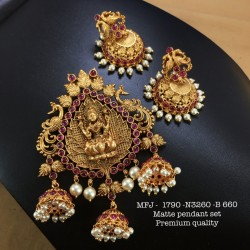 CZ,Ruby Stoned With Pearls Designer Mat Finished Kada Adjustable Buy Online