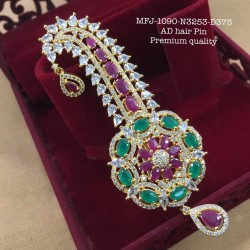 2.4 Sized Ruby Stoned Lakshmi Designer Mat Screw Type Bangle Set Buy Online