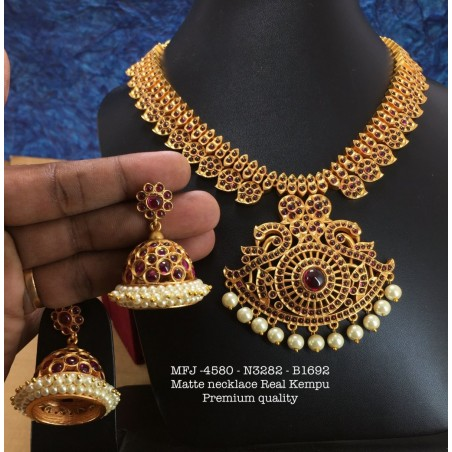 CZ,Ruby&Emerald Stones With Pearls Sun&Moon Design Antique Finished Headset Buy Online