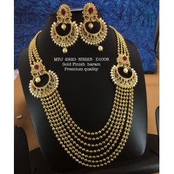 High Quality Kemp stone With Pearls Sun Design Gold finish Necklace  Buy Online
