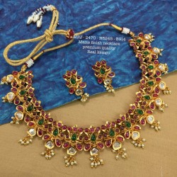 2.4 Size Ruby Stones Kasu With Lakshmi Design Gold Plated Finish Set Bangles Buy Online