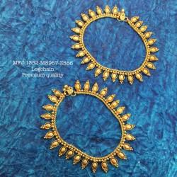 Ruby,Emerald Stones Peacock Jumka Design Matte Finish Earrings Set Buy Online