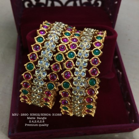 Premium Quality Ruby,EMerald Stoned With Pearls Flower,Hanging Type Earrings Design Mat Finished Haram Set Buy Online
