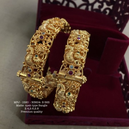 CZ,Ruby Ad Stoned Leafs Designed Gold Finish Stud Design  Set Buy Online