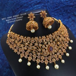 CZ Stones With Pearl Flower Design Gold Plated Finish Bracelet Buy Online
