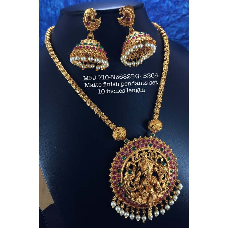 Red Kempu Stones With Pearls Design Jumka For Bharatanatyam Dance And Temple Buy Online