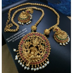 Two Layer Blue Stones With Pearls Design Jumka For Bharatanatyam Dance And Temple Buy Online