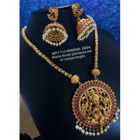 Three Layer Blue Stones With Pearls Design Jumka For Bharatanatyam Dance And Temple Buy Online