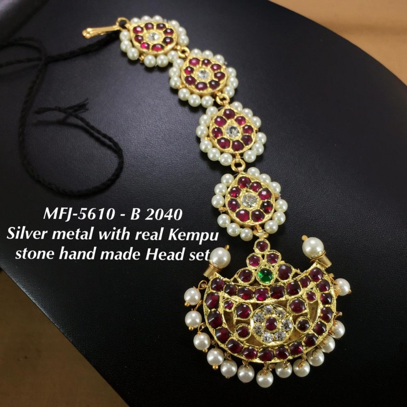 CZ,Ruby&Emerald With Pearls Mango&Flower,Jumka Type Earrings Design Gold Finish Chocker Necklace Set Buy Online