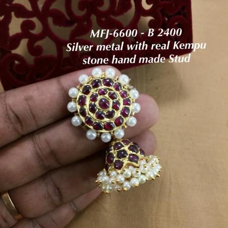 CZ,Ruby&Emerald With Pearls Mango&Flower,Jumka Type Earrings Design Gold Finish Chocker Necklace Set Buy Online
