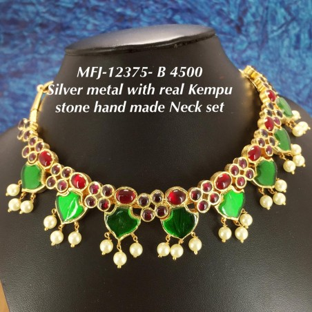 Emerald Stones With Pearls Traditional Lakshmi& Double Peacock Design Matte Finish Hair Clip Buy Online