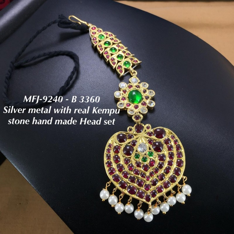 Premium Quality Ruby,Emerald Three Lined AD Stone Flowers Design Gold Plated Finish Kada Adjustble Bracelet Buy Online