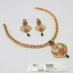 9 Pc Kemp Stones Billai Braid Hair Temple Ornament -Temple Jewellery -Dance Jewellery Online