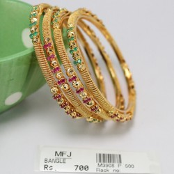 Green & Kempu stone Designar Mini Haram -Temple Necklace-Dance Jewellery Online