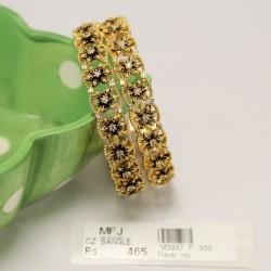 9 Pc Pearl Billai Braid Kemp Stones Hair Temple Ornament -Temple Jewellery -Dance Jewellery Online
