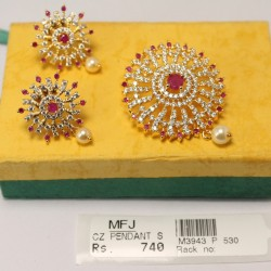 9 Pc Billai Braid Kemp Stones Hair Temple Ornament -Temple Jewellery -Dance Jewellery Online