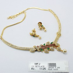 CZ & Ruby Stone Peacock Design Hip Chain Online