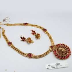 CZ, Ruby & Emerald Stones Lakshmi Design Hip Chain Online