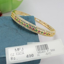 CZ & Emerald Stones Mat Finish Parrot Design Earrings Online