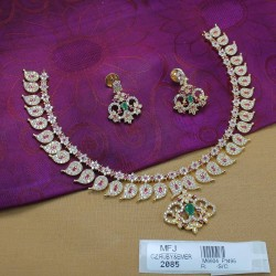CZ, Ruby & Emerald Stones Peacock Design Saree Pin Online