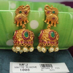 2.4 Size Lakshmi Coins & Flowers Design Ruby Stones Gold Plated Finish Bangles Buy Online