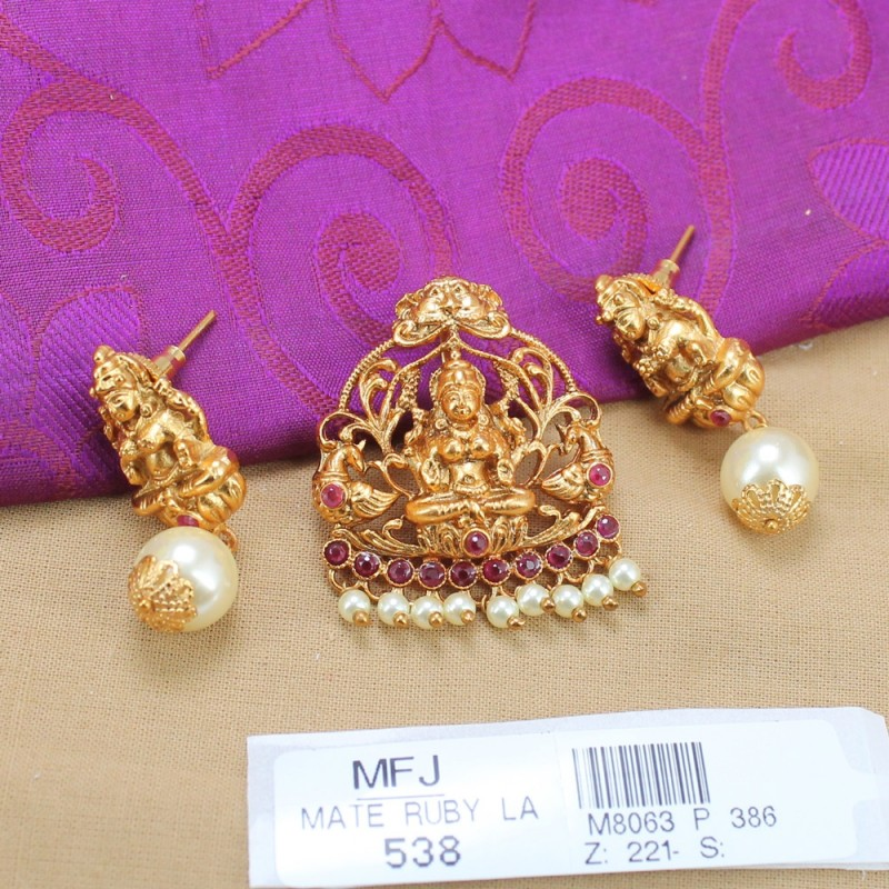 Kempu Stones Traditional Design Mattel Set - Temple Mattel Set - Dance Jewellery Buy Online
