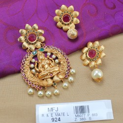 Kempu Stones Traditional Design Earrings - Temple Earrings - Dance Jewellery Buy Online