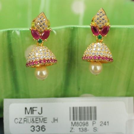 2.4 Size Ruby Stones Leaves & Tilakam Design Mat Finish Bangles Buy Online