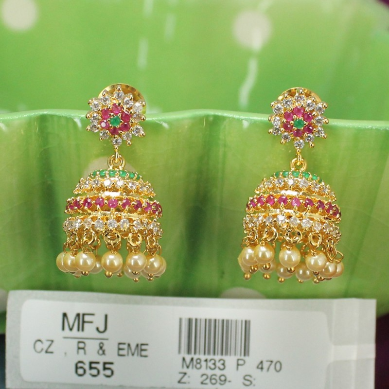 Golden Finish Balls Design Chain With Jumki Set Buy Online