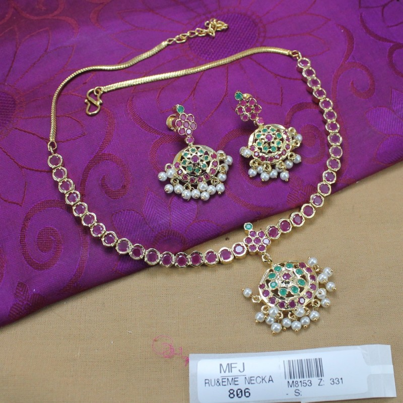 Mango & Flower Design With Pearl Drops Mat Finish Jumki Buy Online