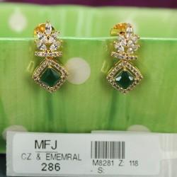 High Quality Kempu Stones Traditional Design Earrings - Temple Earrings - Dance Jewellery Buy Online
