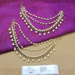 High Quality Kempu Stones Traditional Design Mattel Set - Temple Mattel Set - Dance Jewellery Buy Online