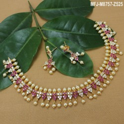 2.4 Size Ruby & Emerald Stones Flowers & Balls Design Gold Plated Finish Bangles Buy Online