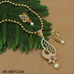 CZ Stones Designer Gold Plated Finish Necklace Set Buy Online