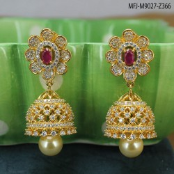Ruby Stones Peacock & Elephant Design With Pearls Drop Mat Finish Hair Clip Buy Online