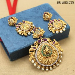 Peacock Design With Pearls Drop Mat Finish Hair Clip Buy Online