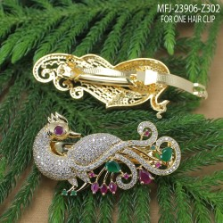 Ruby Stones With Pearl Drop Leaves & Thilakam Design Gold Plated Finish Jumki Buy Online