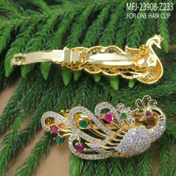 CZ Stones With Pearl Drop Thilakam Design Gold Plated Finish Jumki Buy Online